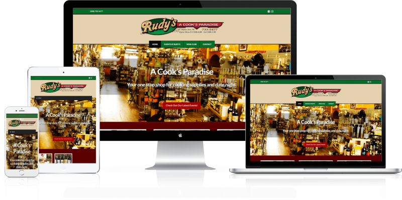 Rudys - A Cooks Paradise Website Design