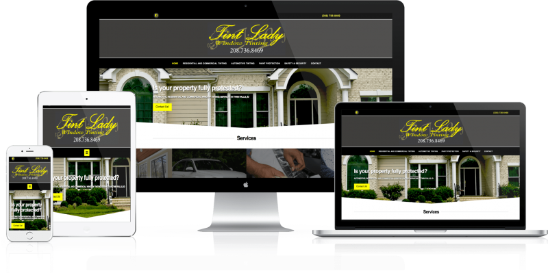 Tint Lady Website Design