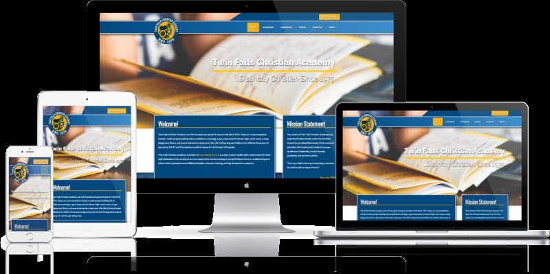 Twin Falls Christian Academy Website Design