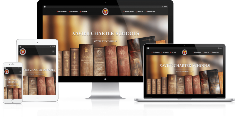 Xavier Charter School Website Design